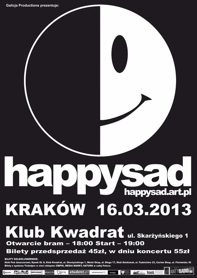 Happysad wystąpi w krakowskim Kwadracie