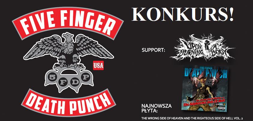 Konkurs: Bilety na koncert Five Finger Death Punch