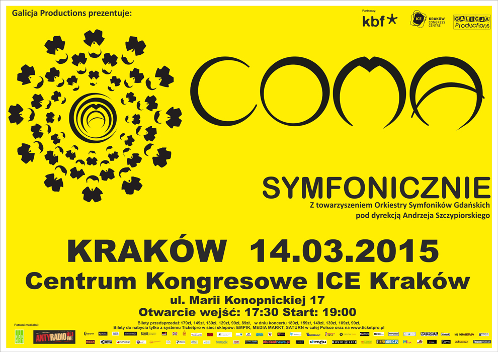 Coma wraz z Orkiestrą Symfoniczną w Krakowie