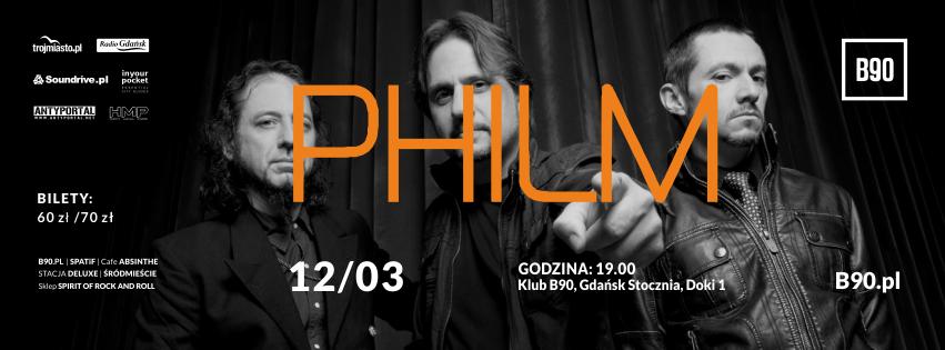 Wygraj bilet na koncert Philm w gdańskim B90!