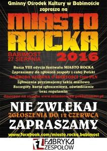 Trwają zgłoszenia młodych zespołów do Miasta Rocka!