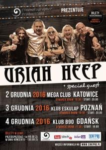 Uriah Heep trzykrotnie w Polsce!